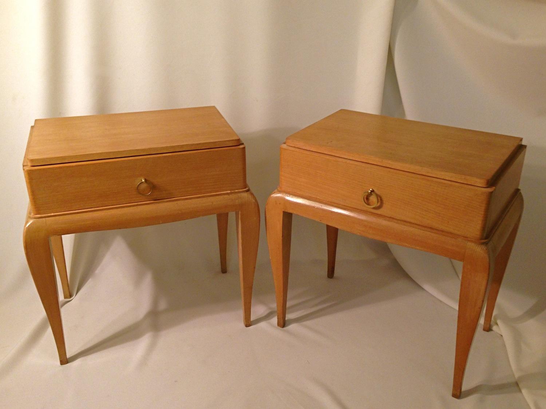 paire de chevets ren prou galerie yvan royer. Black Bedroom Furniture Sets. Home Design Ideas