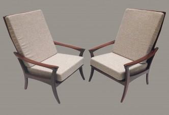 Paire de fauteuils danois haut dossier n°1a