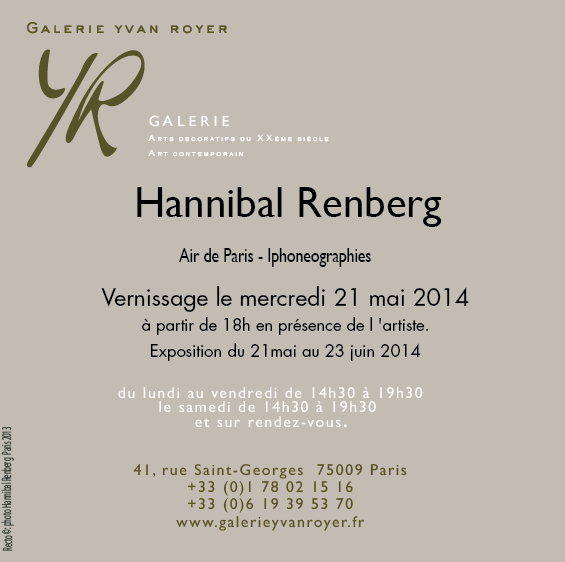 Invitation 21 mai 14 Hannibal Renberg
