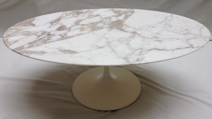 Finest table basse ovale en marbre par saarinen pour knoll s with table basse saarinen ovale - Table knoll ovale marbre blanc ...