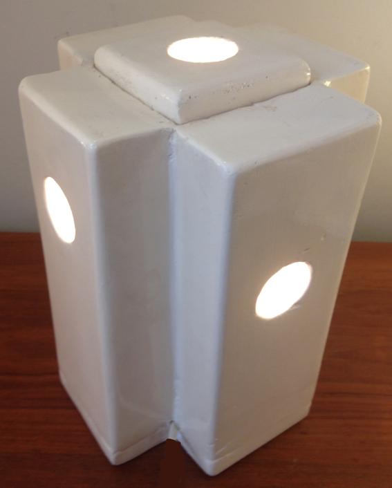 Lampe en ceramique blanche 1a