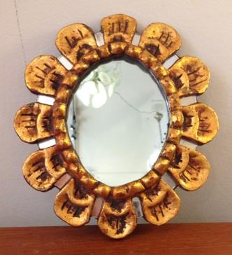 Petit miroir en bois dor archives galerie yvan royer for Petit miroir dore