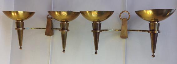 paire d appliques bronze 40a