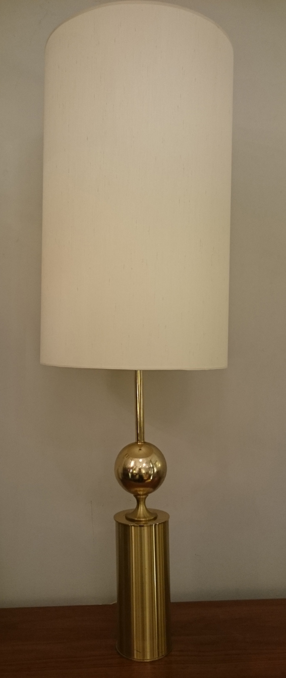Lampe boule metal or 1970 1a