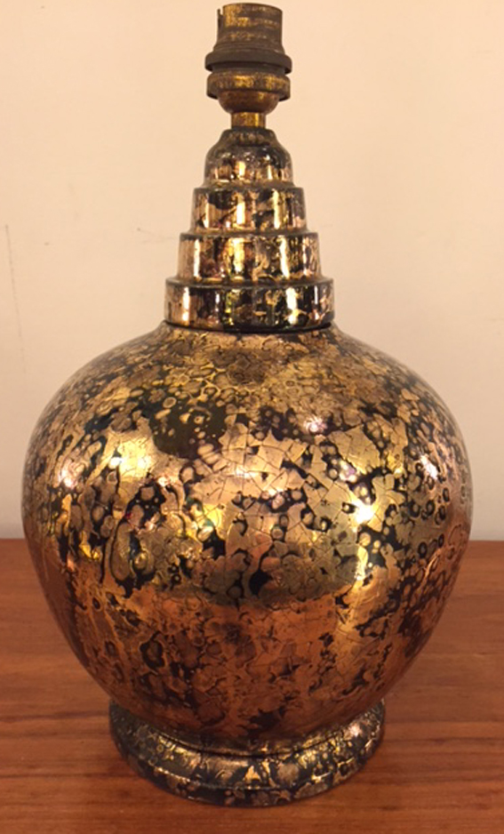 lampe en ceramique ann es 70 galerie yvan royer. Black Bedroom Furniture Sets. Home Design Ideas