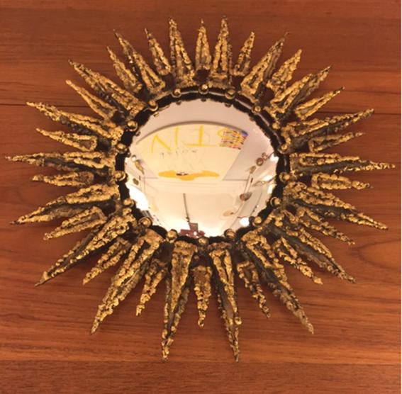 Miroir soleil en sorciere circa 1950 2a galerie yvan royer for Miroir soleil sorciere