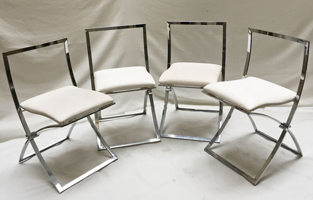 4 chaises CUNEO blanches a