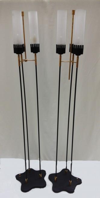 paire de lampadaires 1960 5ab
