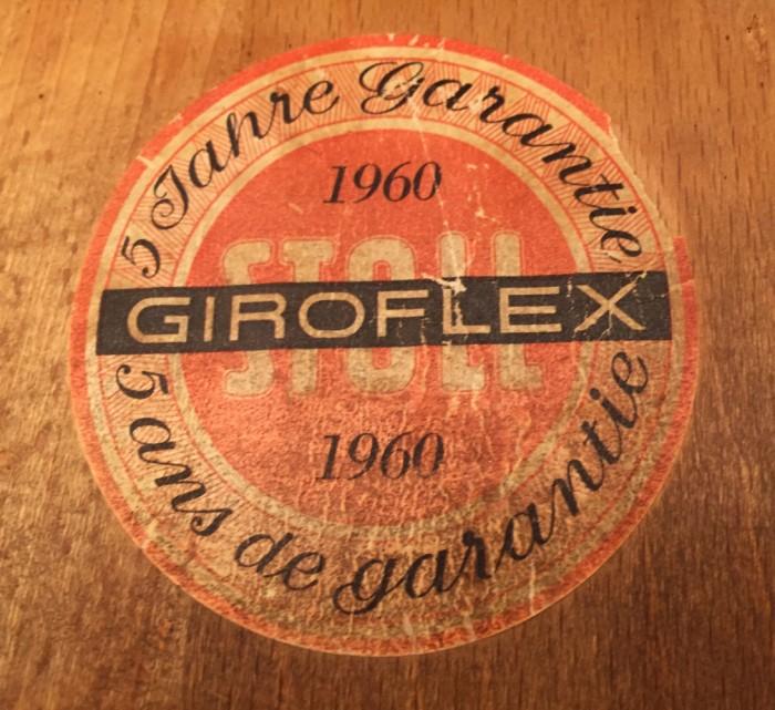 Chaise bois Giroflex n°3a