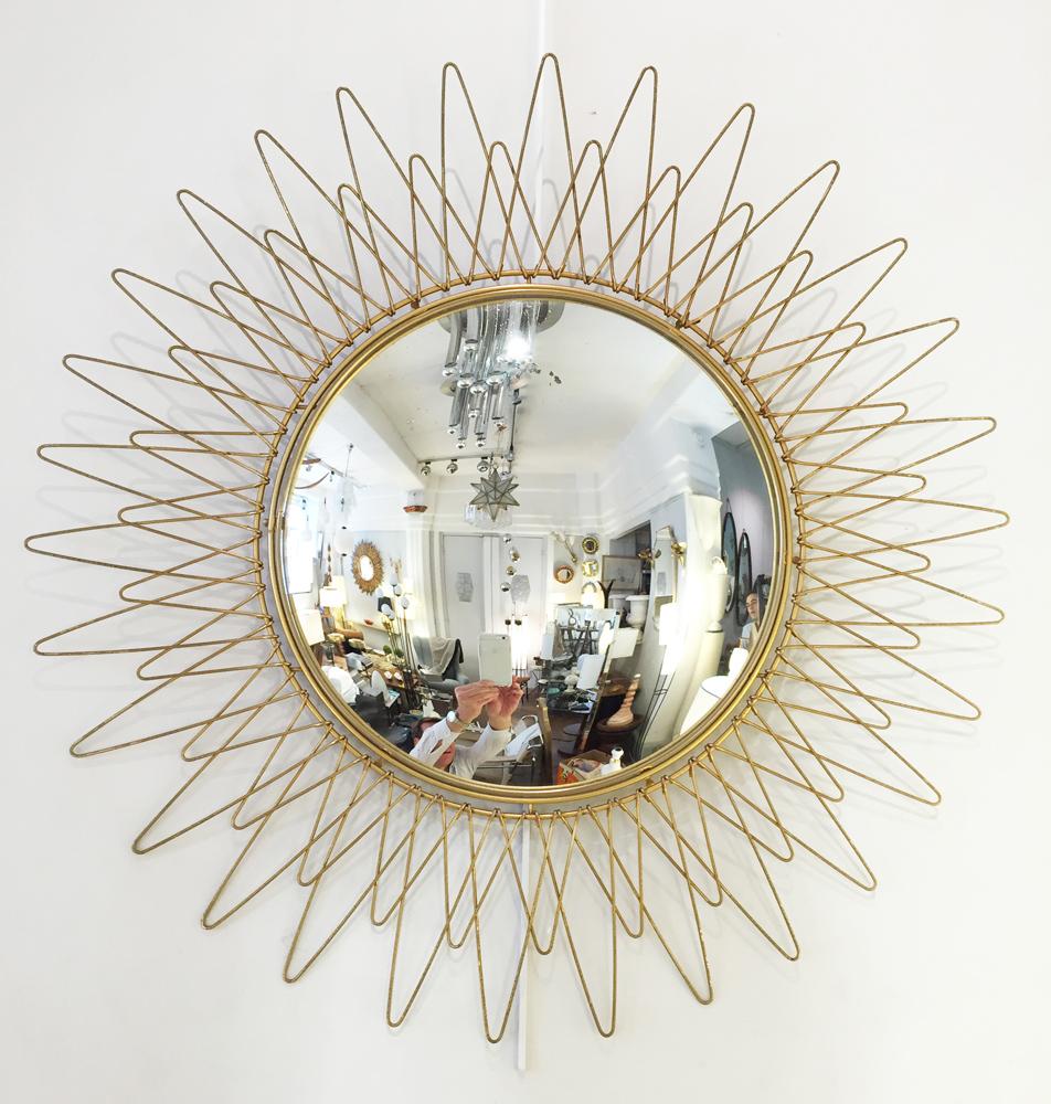 Bureau pierre paulin cm 141 galerie yvan royer for Miroir soleil design