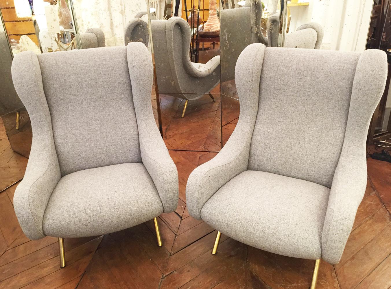 paire de fauteuils modele Senior design Marco Zanuso circa 1955 ...