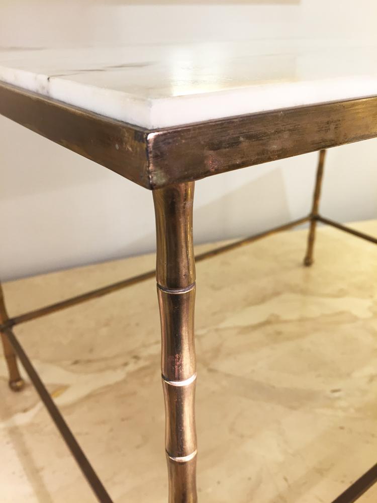 Royer Bronze N°5a Yvan Table Galerie Marbre Blanc Basse 8Ovym0wNn