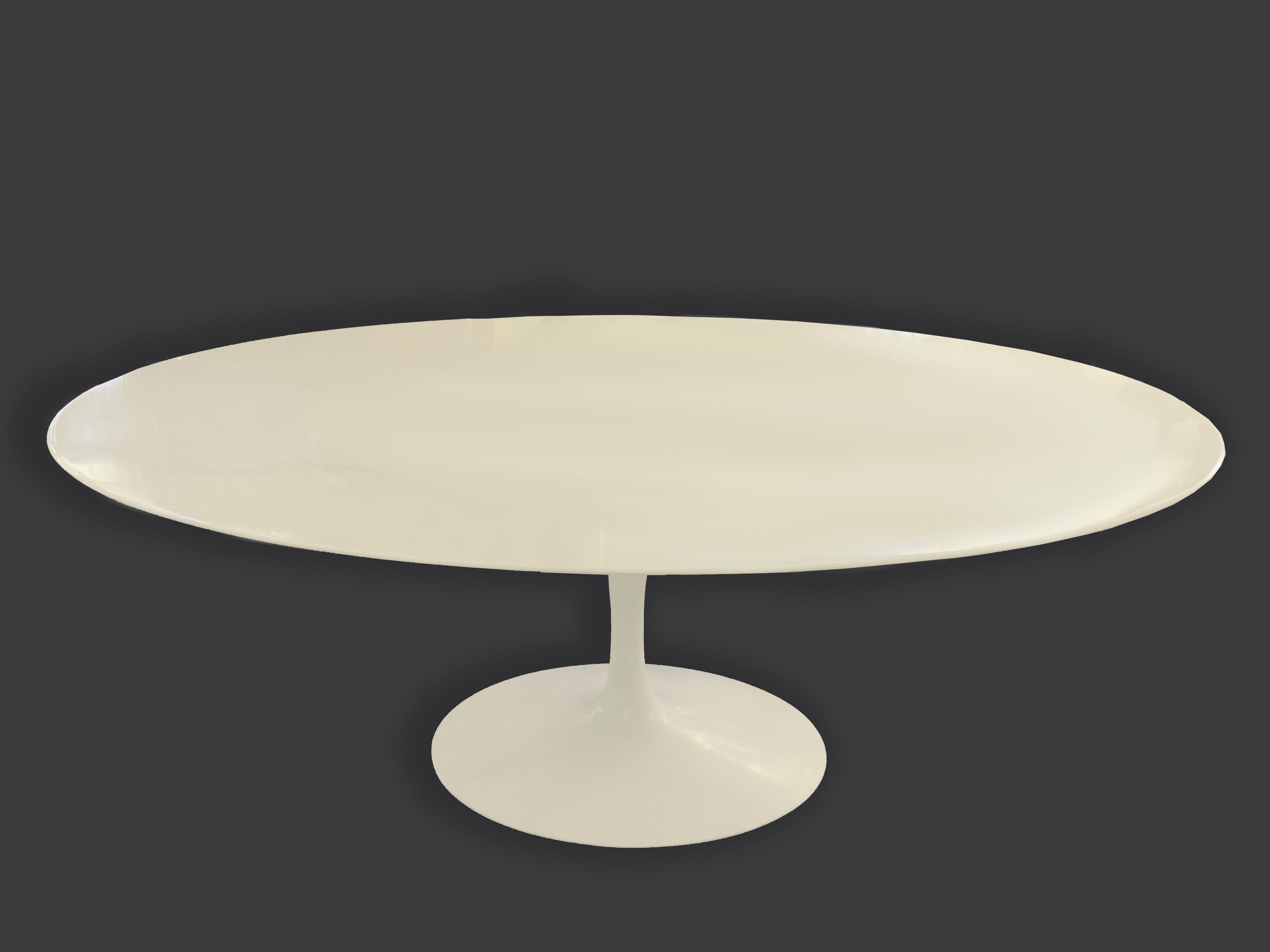 Table Knoll Ovale Marbre Blanc Top Saarinen Table Basse Oval De