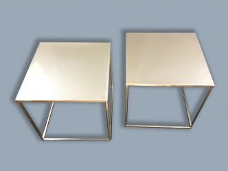 paire de chevets metal chromé 6bis