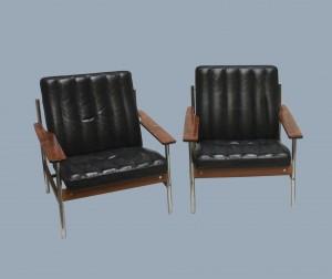 Paire de fauteuils norvégiens