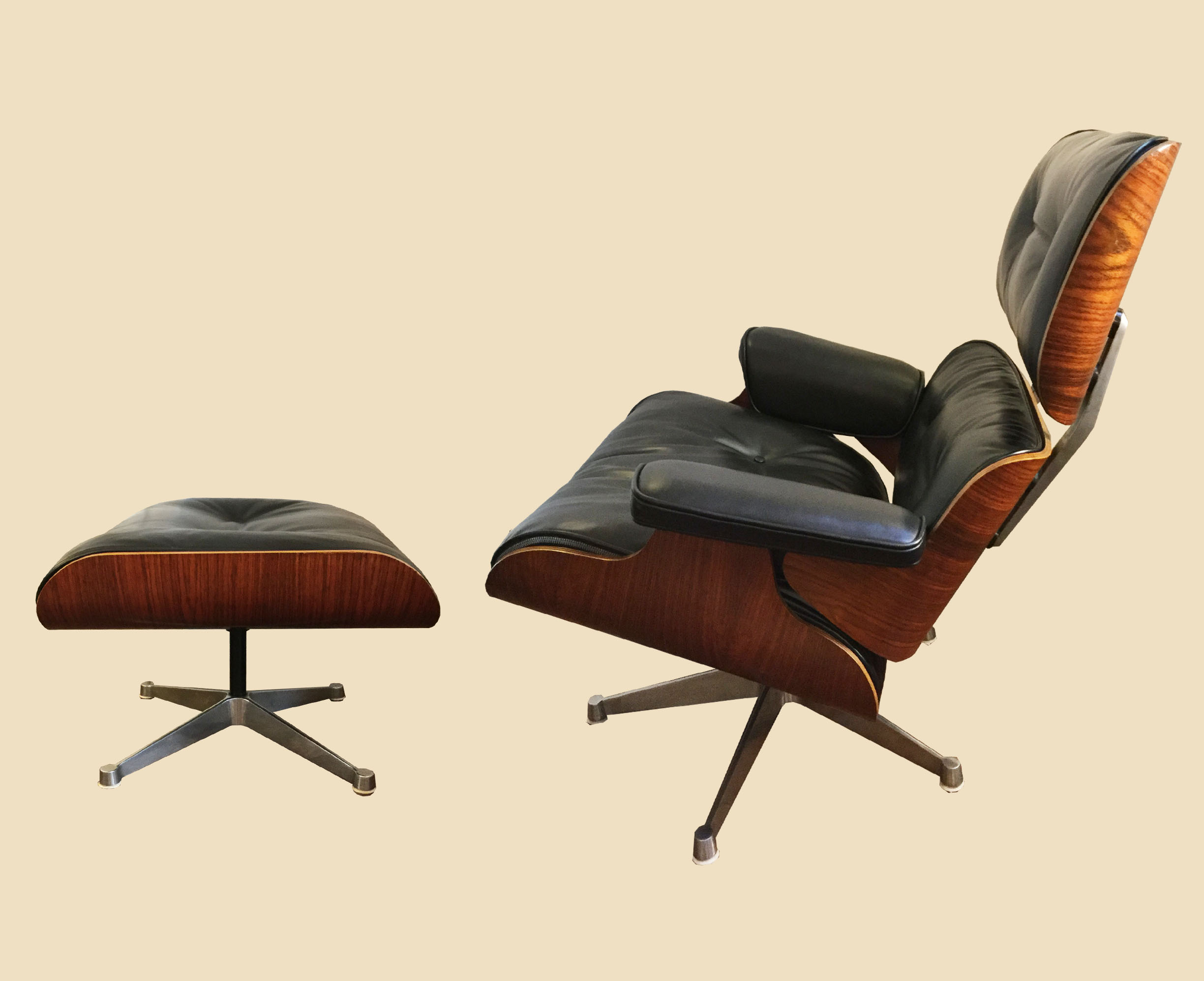 fauteuil lounge chair et ottoman charles ray eames galerie yvan royer. Black Bedroom Furniture Sets. Home Design Ideas