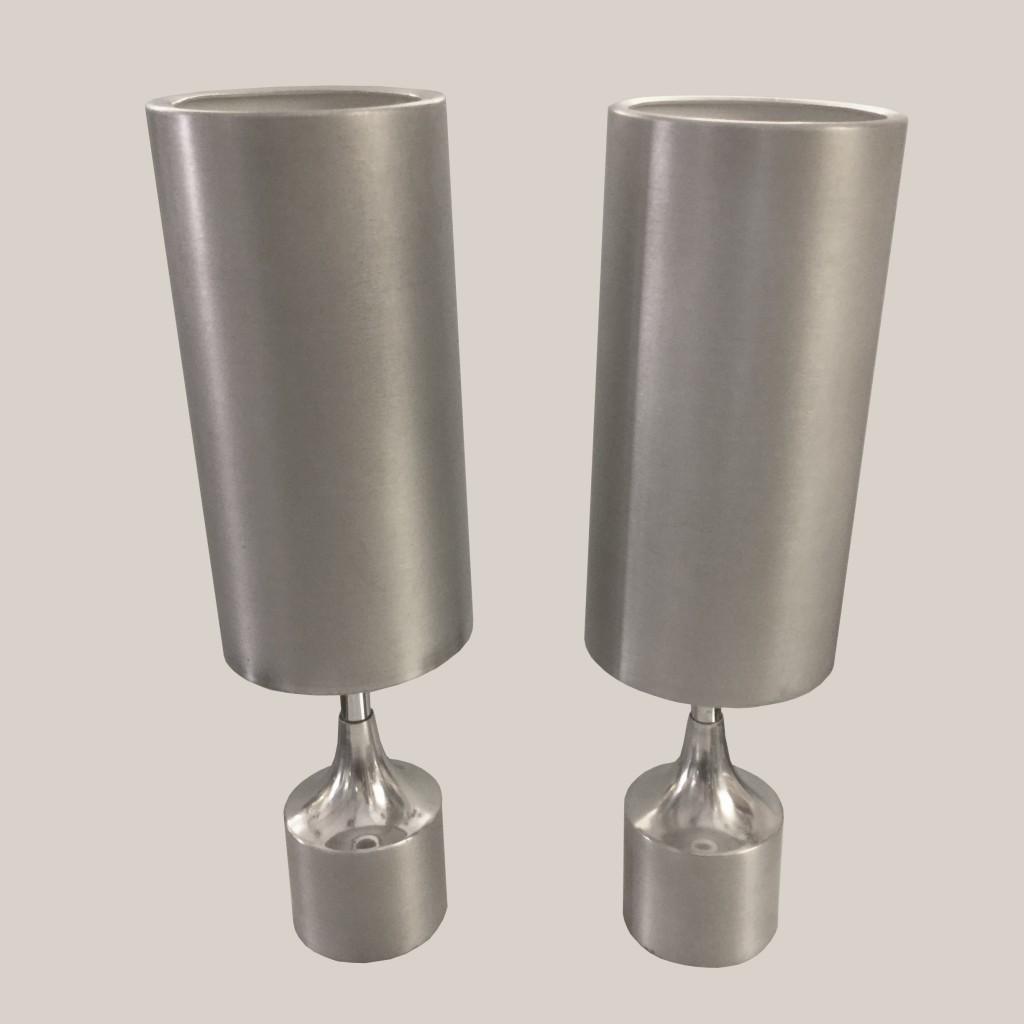 paire de lampes métal