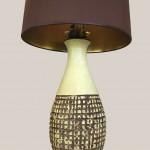 lampe céramque abat jour marron