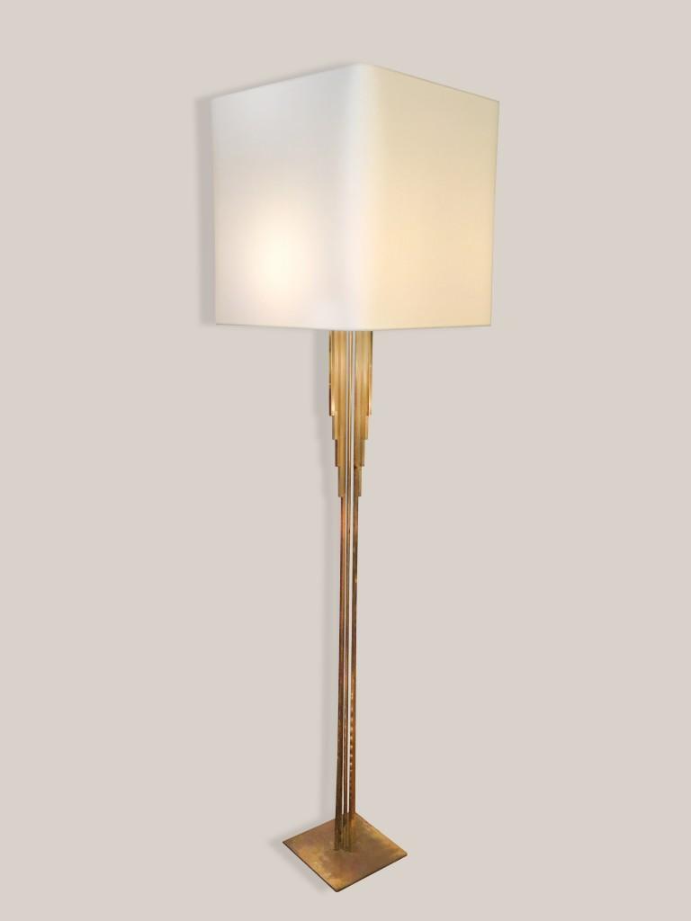 Lampadaire laiton doré années 60
