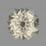 Lustre en métal chromé Venini 2
