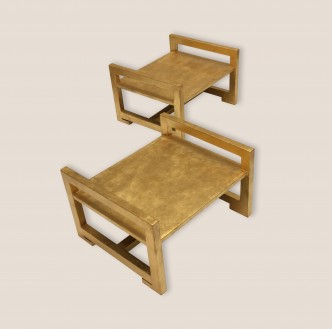 tables d'appoint bois doré 1