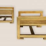 tables d'appoint en bois doré 2