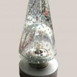 lampe en cristal bullé