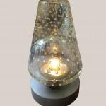 lampe en cristal bullé 2