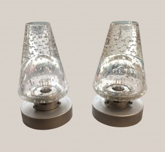 lampes en verre bullé x
