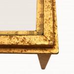Bout de canapé verre et laiton doré détail 1