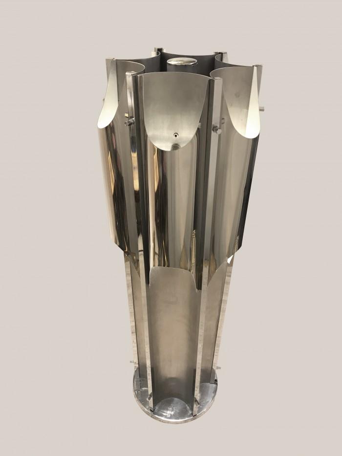 Lampe orgue métal chromé 2