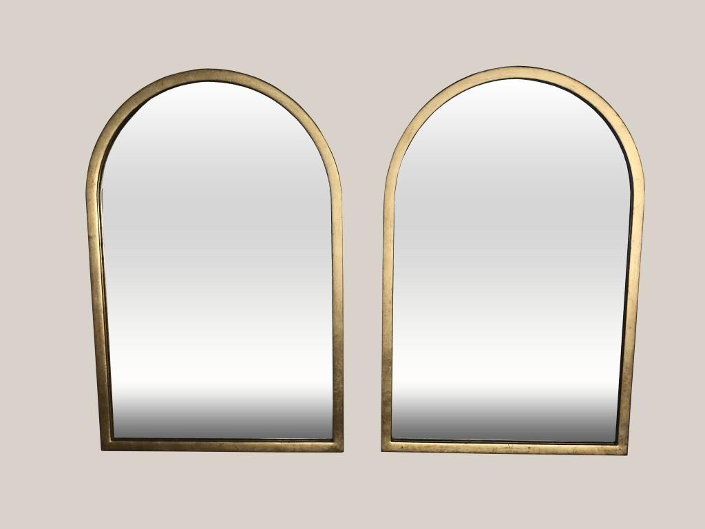 Paire de miroirs cintrés 1
