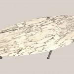 Table basse ovale en marbre 3