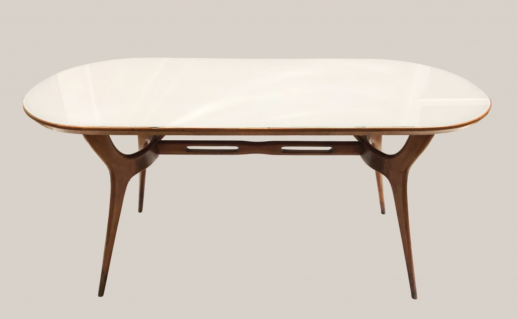 Table italienne plateau en verre 1