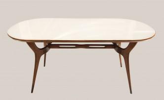 Table italienne plateau en verre 1