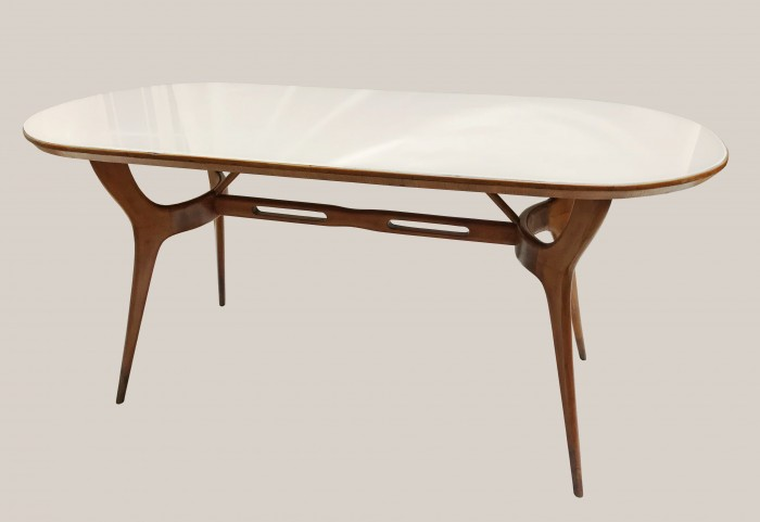 Table italienne plateau en verre 4