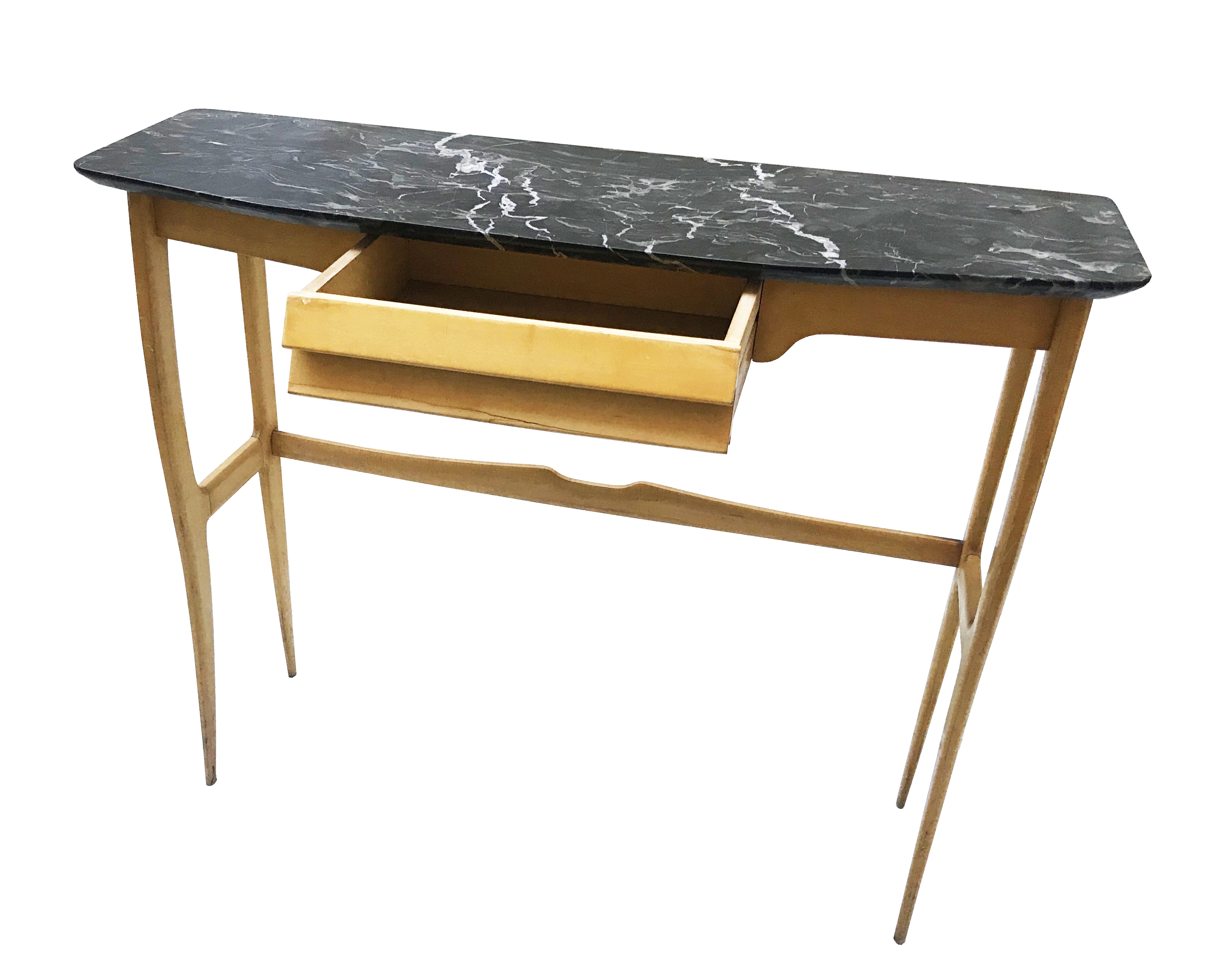 console sycomore et marbre portor 1