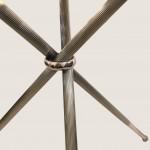 guéridon tripode métal argenté 2