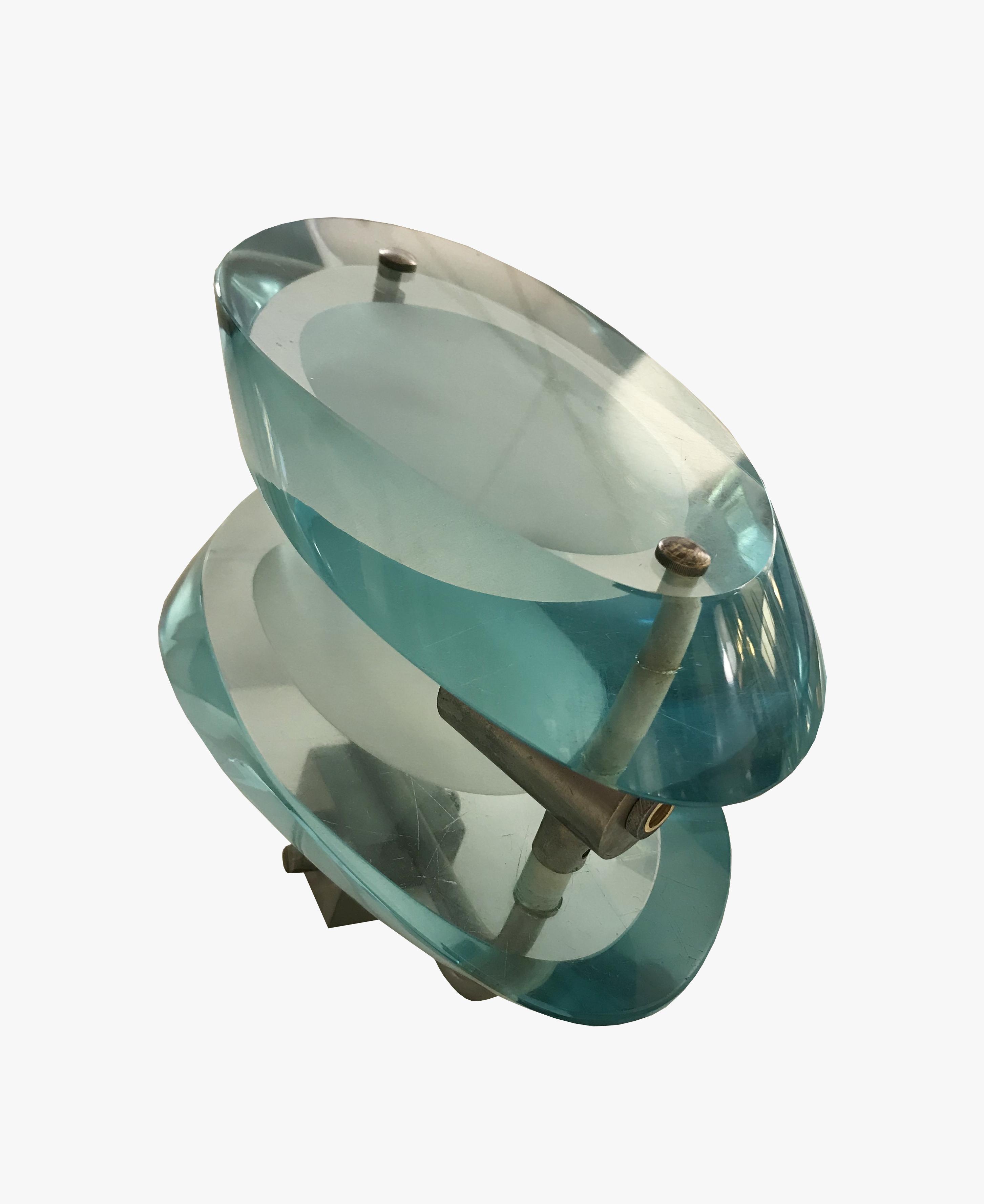 Paire d'appliques bleues transparentes 3