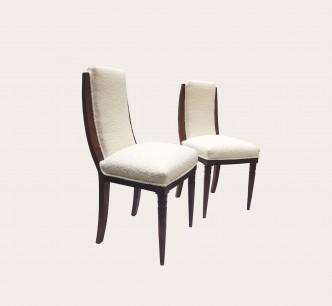 Paire de chaises en mouton vue 1