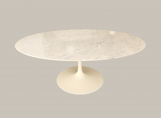 table basse knoll marbre blanc
