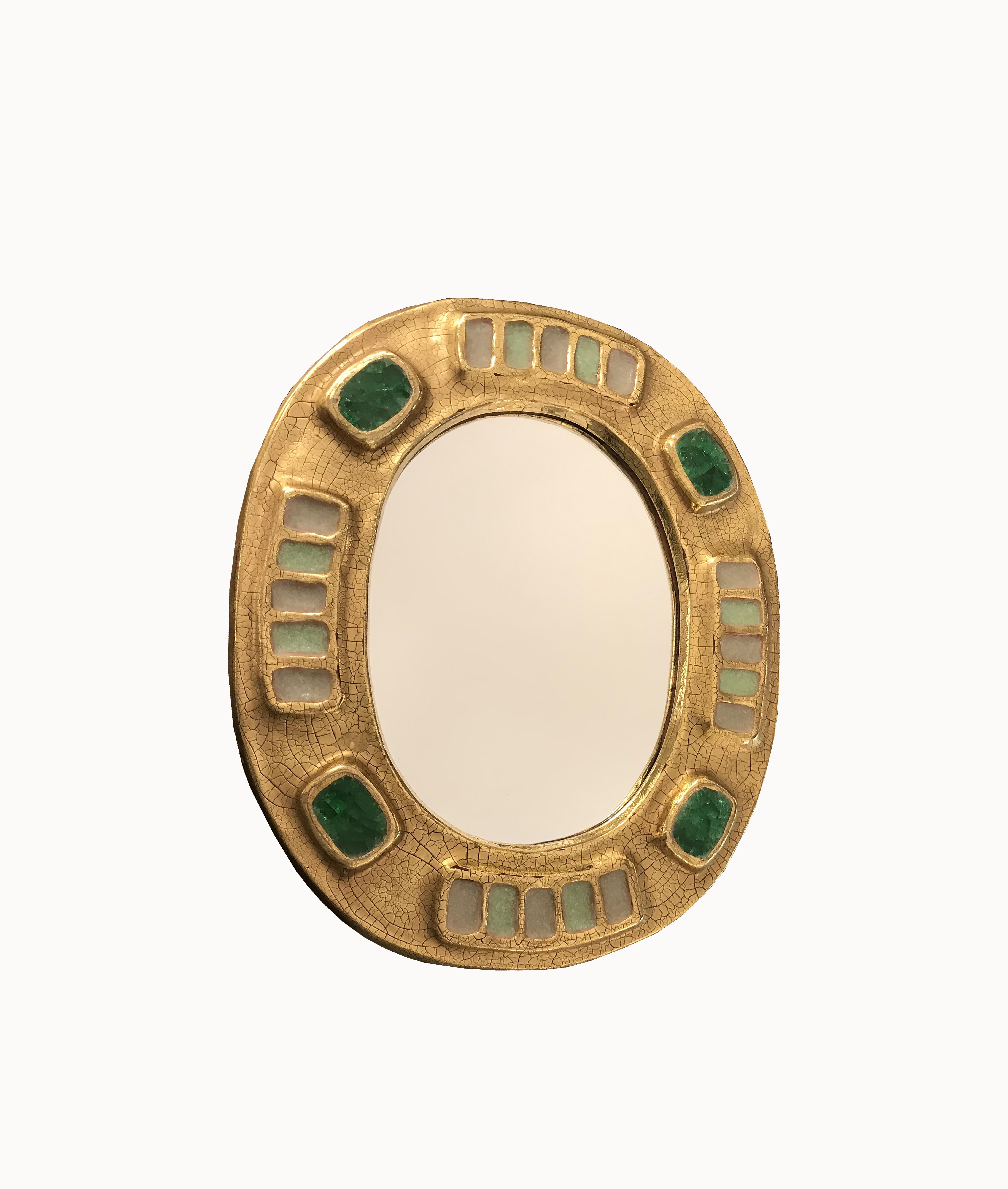 miroir céramique François Lembo vue 1