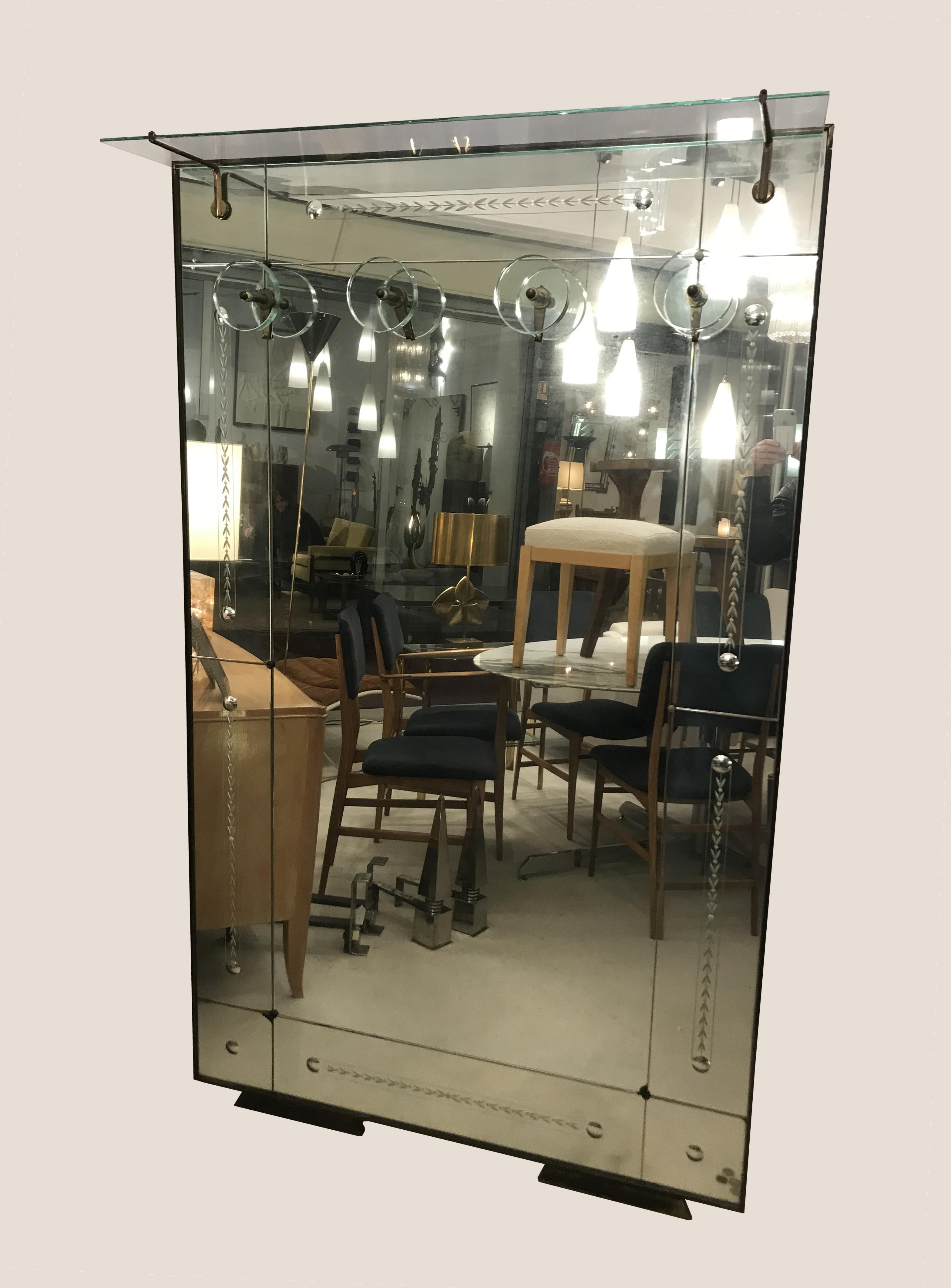 Miroir porte manteaux 1950 185cm *110 cm prof21