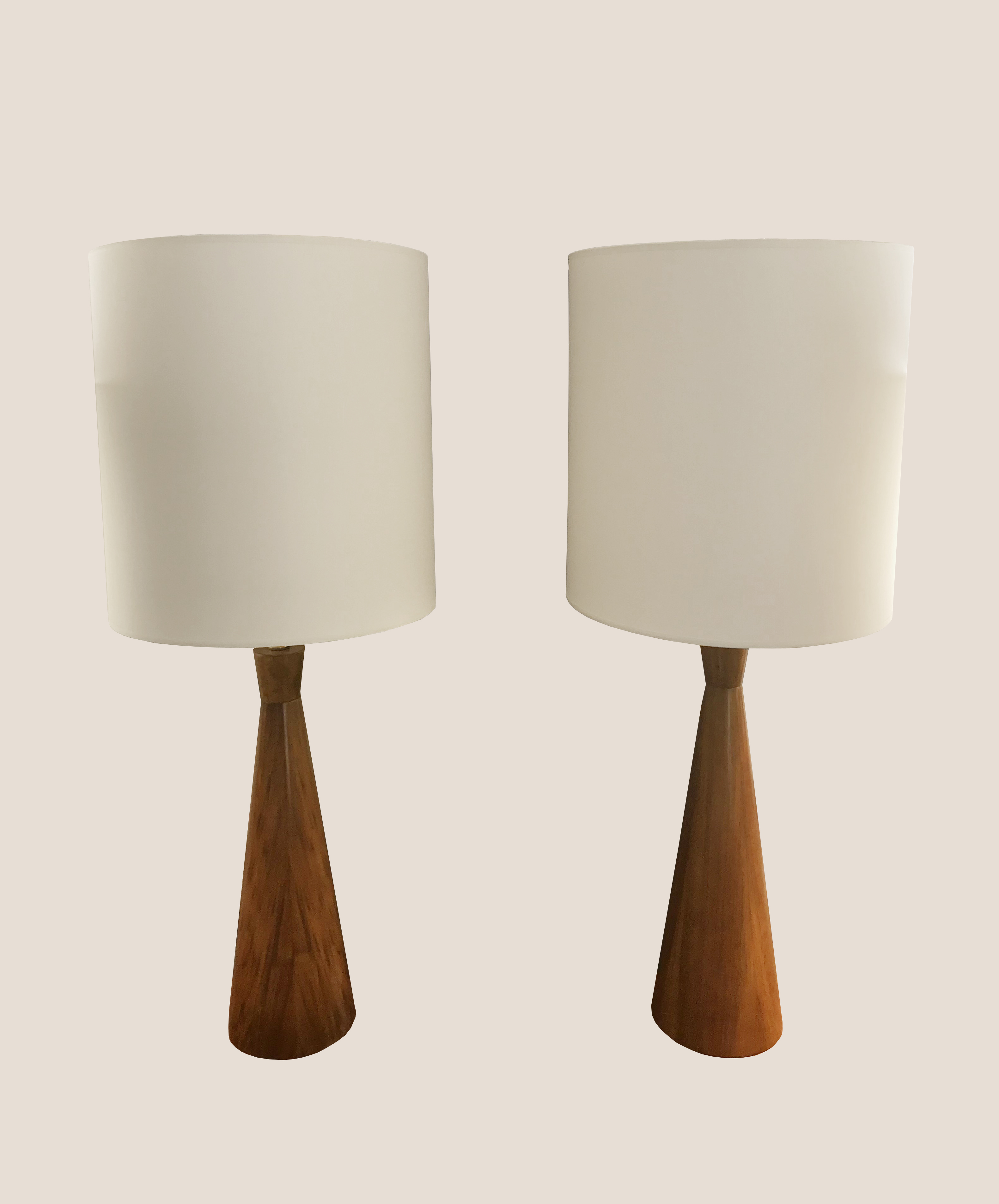 Paire de lampes en bois 4
