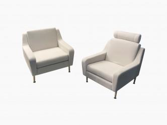 Paire fauteuils style airbone vue 1