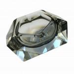 cendrier verre bleu vue 2