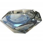 cendrier verre bleu vue 3