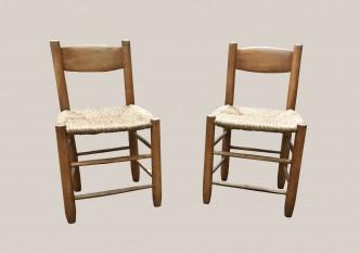 chaises bois et paille 3