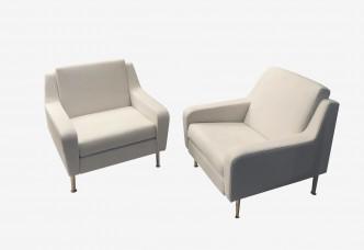 paire fauteuils style airbone vue 4