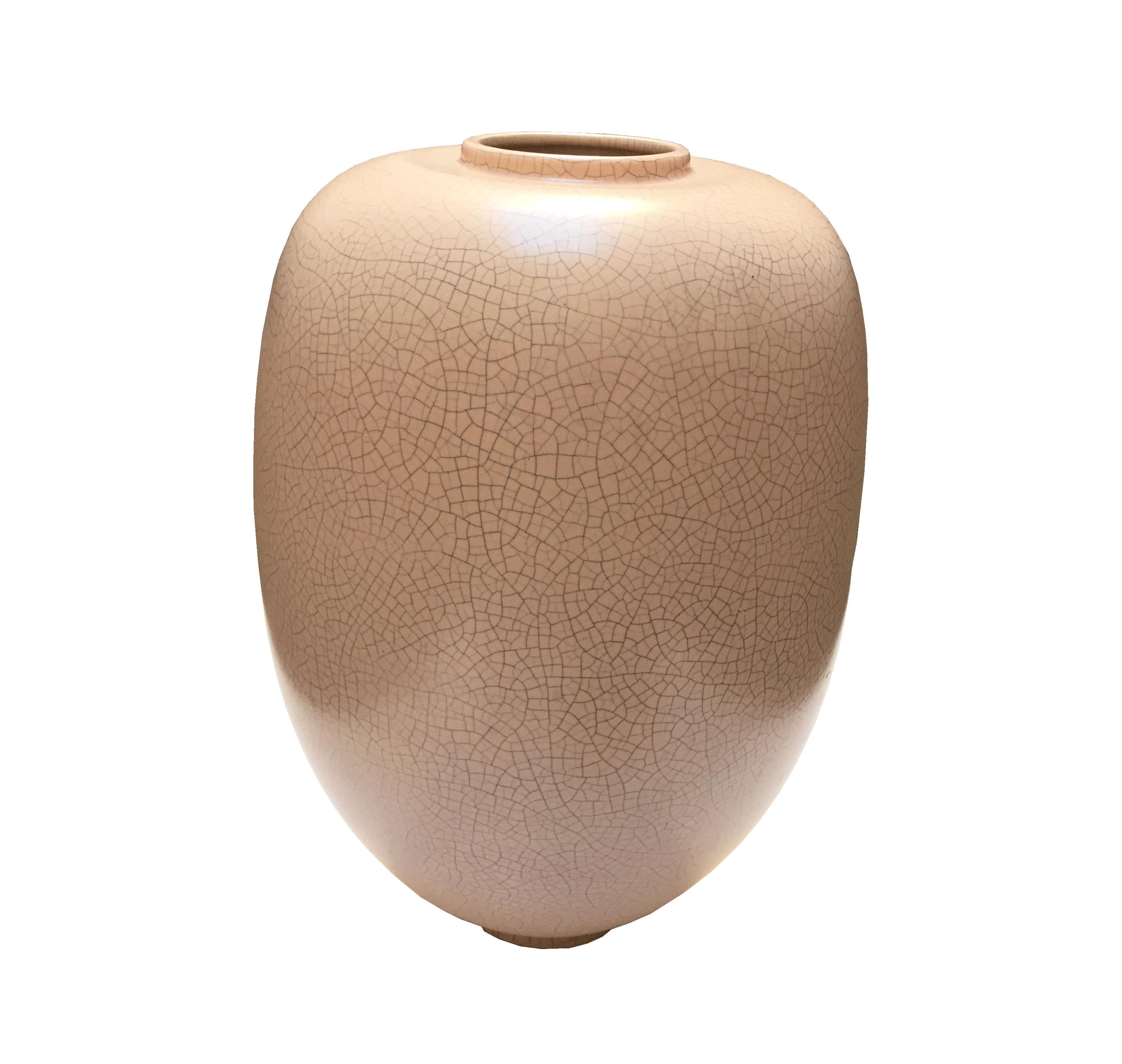 vase coquilles d'oeufs rose vue 1